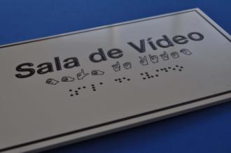 Placa de sinalização - SALA DE VÍDEO