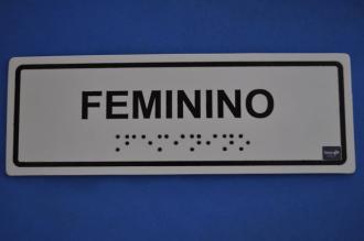 PLACA DE SINALIZAÇÃO - SANITÁRIO FEMININO