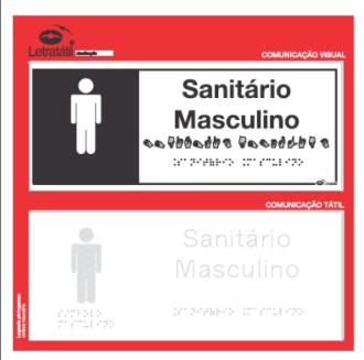 Placa de sinalização - SANITÁRIO MASCULINO