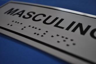 Placa de sinalização - SANITÁRIO MASCULINO- modelo 2