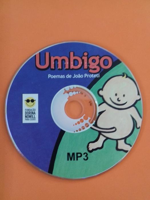Umbigo - Livro colorido, letra ampliada, braille e áudio