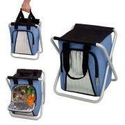 Ice Cooler Banqueta 25l Térmica Dobrável Camping Pescaria