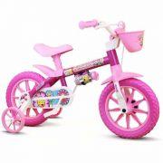 Bicicleta Infantil Feminina Flower Nathor Aro 12