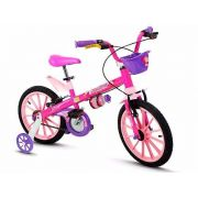 Bicicleta Infantil Aro 16 Top Girls Nathor Menina