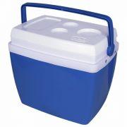 Caixa Térmica 34 Litros Azul Com Alça Mor