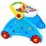 Andador Didático para Bebê Menino Azul Poliplac