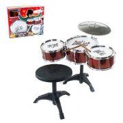 Bateria Infantil Musical Rock com Banqueta