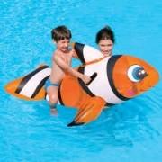 Boia Divertida Peixe Palhaço Inflável para Piscina