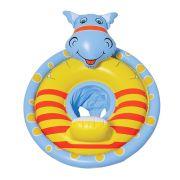 Boia Infantil Inflável com Fralda Dinossauro Azul