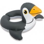 Boia Infantil Inflável para Piscina Cabeça Zôo Pinguim Intex