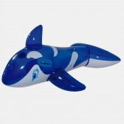 Boia Inflável Baleia Orca Azul Gigante MOR