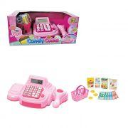 Caixa Registradora Infantil Candy Rosa com Luz e Som