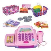 Caixa Registradora Infantil com Acessórios Luz e Som