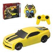Carrinho Controle Remoto com Mascara Bumblebee Transformers