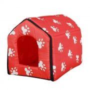 Casa Casinha para Cães Gatos Almofada Pet Casa 37x42x45cm