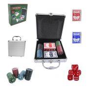 Jogo de Poker com Maleta 100 Fichas