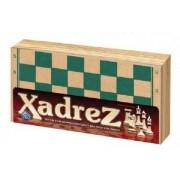 Jogo de Xadrez Tabuleiro Estojo em Madeira