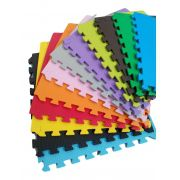 Kit 04 Tapetes Tatames Coloridos Eva 50cm X 50cm X 15mm C/ Borda