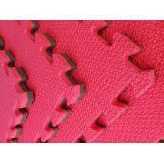 Kit com 4 Tatames Dupla Face Vermelho com Preto 50x50x2cm