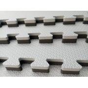 Kit com 6 Tatames Dupla Face Cinza com Preto 50x50x2cm
