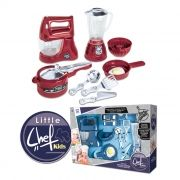 Kit Cozinha Infantil Little Chef Kids com Acessórios