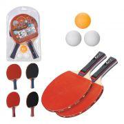 Kit Ping Pong Tênis de Mesa com 2 Raquetes e Bolinhas