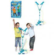 Microfone Infantil Duplo com Pedestal Rocky Boy