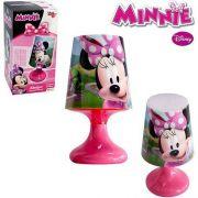 Mini Abajur Luminária Infantil Minnie com Led a Pilhas