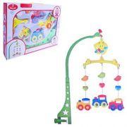 Mobile Infantil Musical Baby Trenzinho Com Suporte Fixador Colors