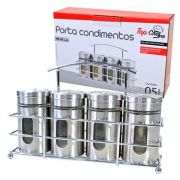 Porta Condimentos Temperos Top Chef 4 Potes 80ml Cada