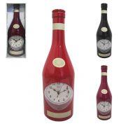 Relógio de Parede em Formato de Garrafa de Vinho
