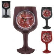 Relógio de Parede Modelo Taça de Vinho