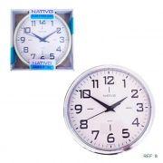 Relógio de Parede Ponteiros Nativo 24cm