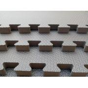 Tatame Tapete EVA Com Borda 50 X 50 X 3cm Cinza Escuro