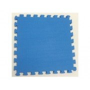 Tatame Tapete EVA Com Borda 50cm X 50cm X 1cm Azul Royal