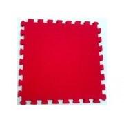 Tatame Tapete EVA Com Borda 50cm X 50cm X 1cm Vermelho
