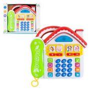 Telefone Baby Infantil Musical Modelo Casinha