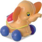 Telefone Infantil Bebê Educativo Elefantinho com Rodinhas