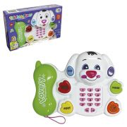 Telefone Infantil Musical Teclas Luz e Som