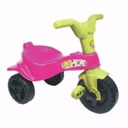 Triciclo Infantil Velotrol Motoca Meninas cor Rosa Omotcha