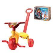 Triciclo Infantil Velotrol Tchuco Implacáveis com Haste para Empurrar