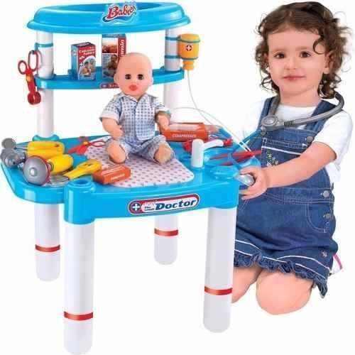 Minha Bancada De Médico Infantil Com Kit Criança