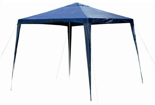Tenda 3x3 Gazebo Azul Ráfia Mor Estrutural Em Ferro Praia