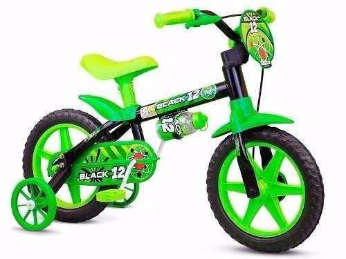 Bicicleta Infantil Black Nathor Aro 12