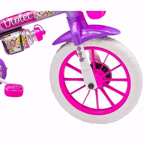 Bicicleta Infantil Feminina Violet Nathor Aro 12