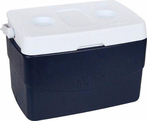 Caixa Térmica Glacial 20 Litros Mor Azul Com Alça