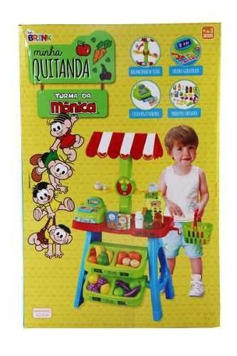 Kit Infantil Quitanda 46x37x83cm Turma Mônica Banca Frutas