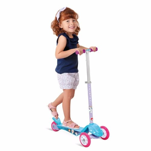 Skatenet Max Frozen Disney Bandeirante Patinete 3 Rodas
