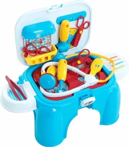 Banquinho Kit Médico Infantil Doutor Acessórios Médicos