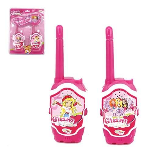 Walkie Talkie Infantil Glam Girls Rosa Para Meninas